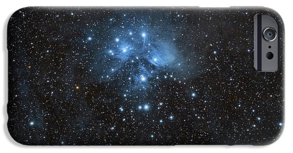 Constellations iPhone Cases - The Pleiades, Also Known As The Seven iPhone Case by John Davis