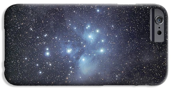 Stellar iPhone Cases - The Pleiades Surrounded By Dust iPhone Case by Phillip Jones