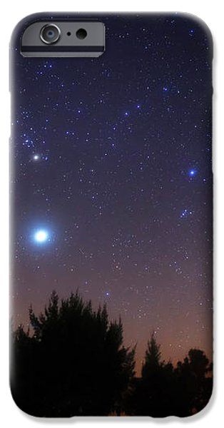 The Pleiades, Taurus And Orion iPhone Case by Luis Argerich