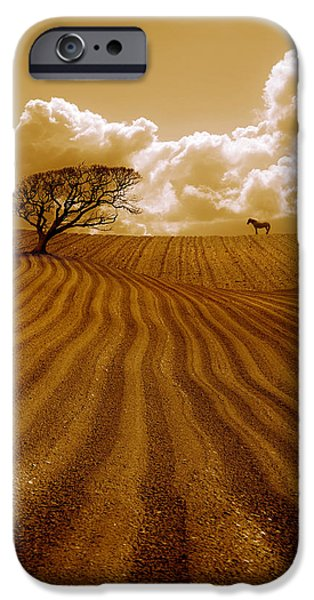 The Ploughed Field iPhone Case by Mal Bray