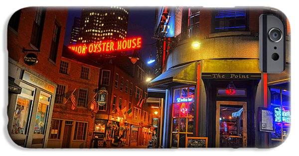 Boston Ma Digital iPhone Cases - The Point Marshall Street Boston MA iPhone Case by Toby McGuire