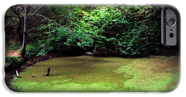 Business Photographs iPhone Cases - The Pond Below Inspiration Point At Garland Park II iPhone Case by Joyce Dickens