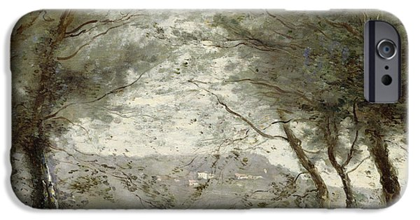 1796 iPhone Cases - The Pond iPhone Case by Jean Baptiste Corot
