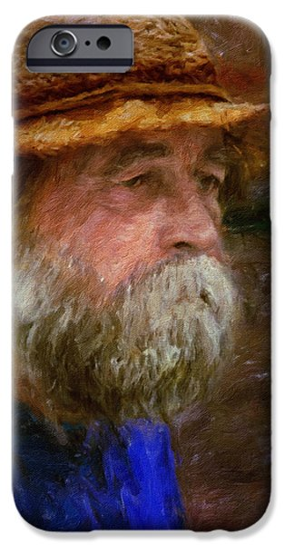 Old Man With Beard iPhone Cases - The Portrait Of A Man iPhone Case by Eduardo Tavares
