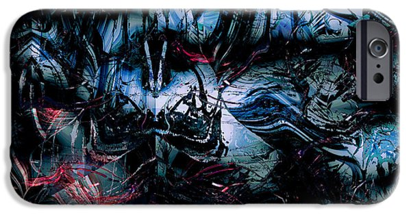 Creepy iPhone Cases - The Post-Human Nightmare Looms iPhone Case by Stephen  Killeen