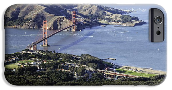 Sausalito iPhone Cases - The Presidio and The Golden Gate iPhone Case by Hugh Stickney