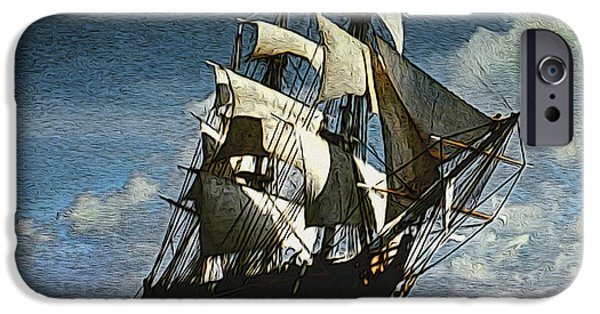 Pirate Ship iPhone Cases - The Privateer off Tortuga iPhone Case by Anthony Forster