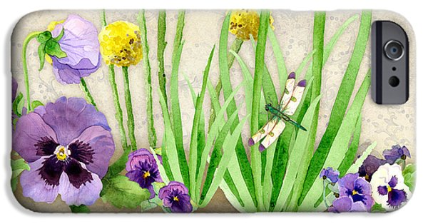 Pansy iPhone Cases - The Promise of Spring - Dragonfly iPhone Case by Audrey Jeanne Roberts