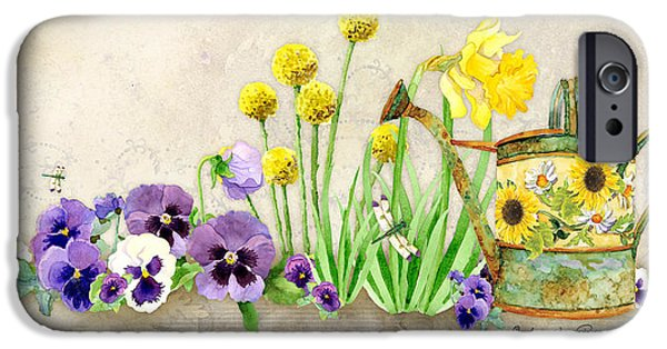 Pansy iPhone Cases - The Promise of Spring - Pansy iPhone Case by Audrey Jeanne Roberts
