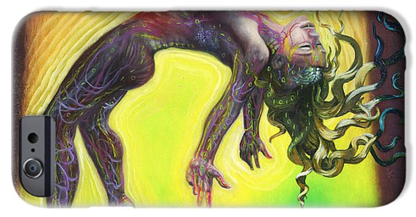Metaphysical Paintings iPhone Cases - The Prophet iPhone Case by Kd Neeley