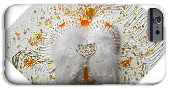 Yellow Reliefs iPhone Cases - The pure heart receives vitality on earth iPhone Case by Heidi Sieber