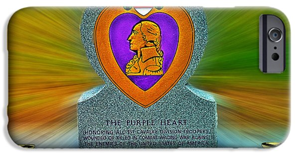 1st Base iPhone Cases - the Purple Heart iPhone Case by Francisco Colon