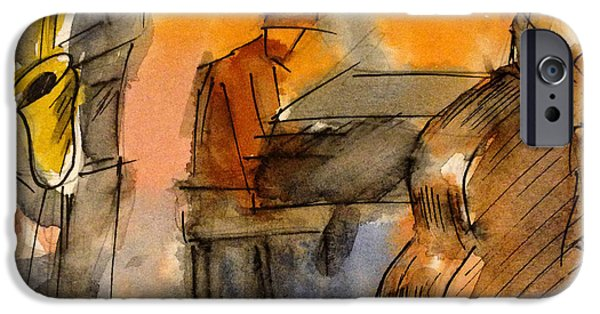 Piano iPhone Cases - The Quartet iPhone Case by Manooch Vahdat