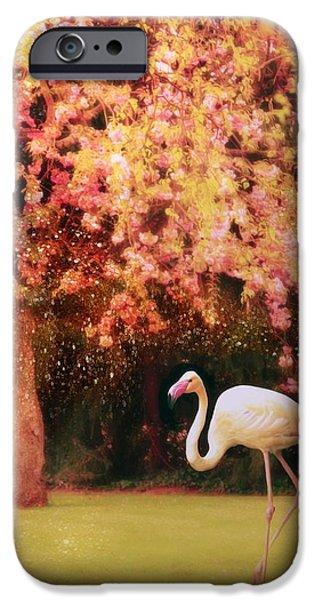 Alice In Wonderland Digital iPhone Cases - The Queens Croquet-Ground iPhone Case by Danny Van den Groenendael