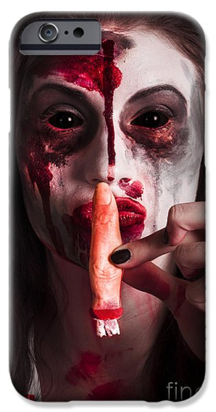 Creepy iPhone Cases - The quiet things that no one ever knows iPhone Case by Ryan Jorgensen