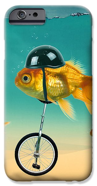 Animation iPhone Cases - The Race  iPhone Case by Mark Ashkenazi