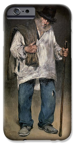 The Tramp iPhone Cases - The Ragman iPhone Case by Edouard Manet