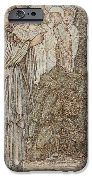 Miracle iPhone Cases - The Raising of Lazarus iPhone Case by Edward Burne-Jones