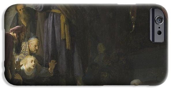 The Resurrection Of Christ iPhone Cases - The Raising of Lazarus iPhone Case by Rembrandt