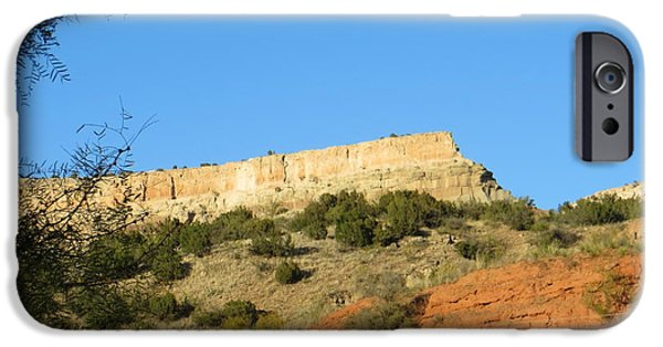 Rust iPhone Cases - The Ramparts of Palo Duro iPhone Case by Lorita Montgomery