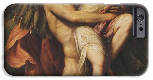 Goddess Mythology Paintings iPhone Cases - The Rape of Oreithyia iPhone Case by Giovanni Battista Cipriani