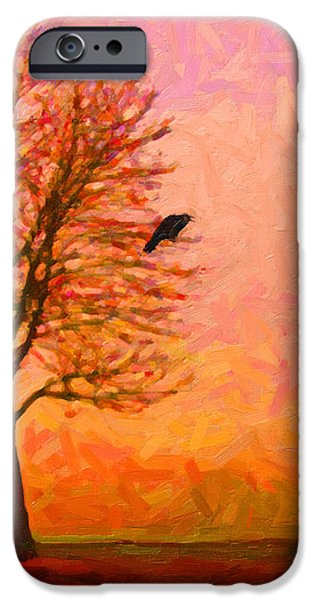 The Raven and The Moon iPhone Case by Wingsdomain Art and Photography