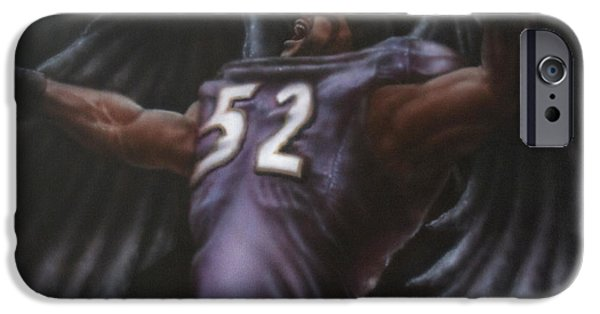 Recently Sold -  - Airbrush iPhone Cases - The Raven iPhone Case by Troy Wilfong