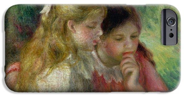 Renoir iPhone Cases - The Reading iPhone Case by Pierre Auguste Renoir