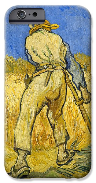 Agricultural Paintings iPhone Cases - The Reaper iPhone Case by Vincent van Gogh