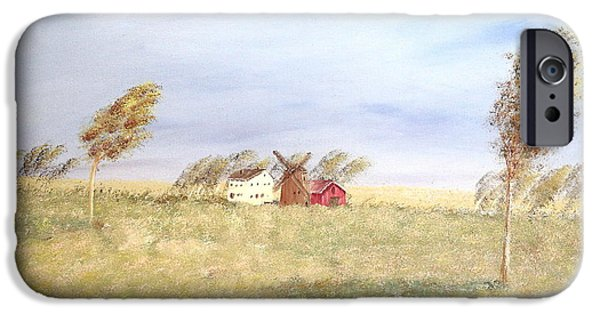 Old Barns iPhone Cases - The Red Barn iPhone Case by Wingsdomain Art and Photography