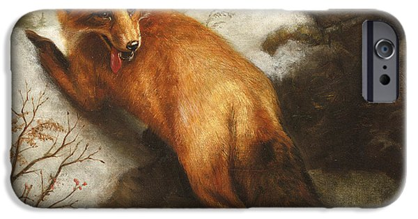 Fox Paintings iPhone Cases - The Red Fox iPhone Case by Abbott Handerson Thayer