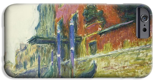 French Signs iPhone Cases - The Red House iPhone Case by Claude Monet