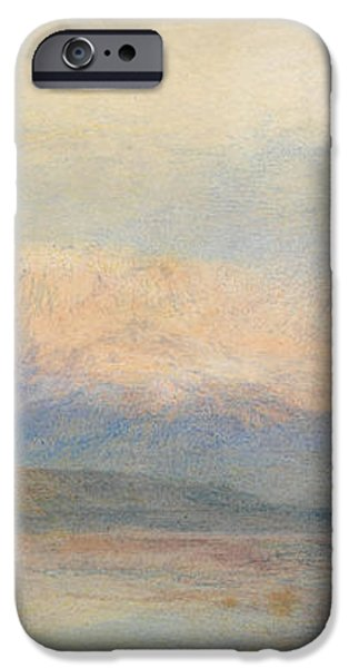 Nature Study Paintings iPhone Cases - The Red Rigi  iPhone Case by William Turner