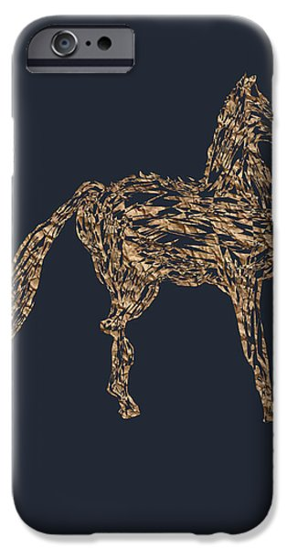 Angel Blues iPhone Cases - The Regal Horse PB iPhone Case by Valerie Christopher
