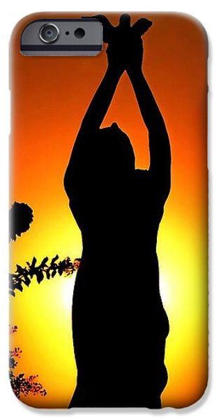 Sunset Sculptures iPhone Cases - The Release in Rich Color iPhone Case by Nathan Little