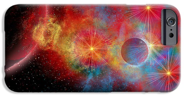 Stellar iPhone Cases - The Remains Of A Supernova Give Birth iPhone Case by Mark Stevenson