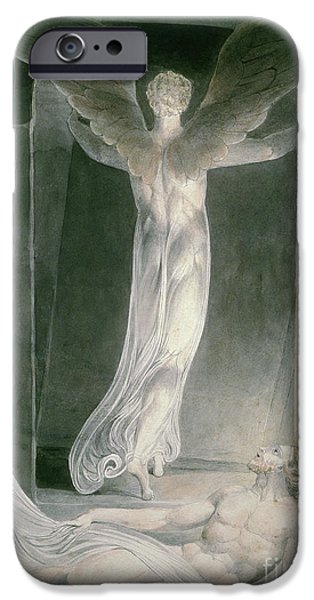 Sepulchre Drawings iPhone Cases - The Resurrection iPhone Case by William Blake