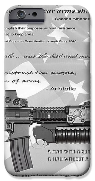 THE RIGHT TO BEAR ARMS iPhone Case by Daniel Hagerman