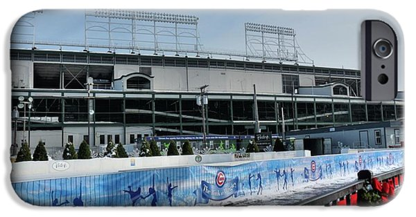 Chicago Cubs iPhone Cases - The Rink at Wrigley iPhone Case by David Bearden