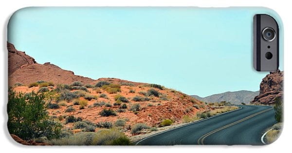 Red Rock Tapestries - Textiles iPhone Cases - The Road iPhone Case by Edna Weber