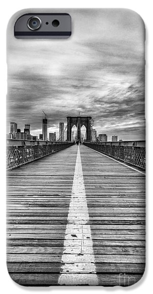 Nyc iPhone Cases - The road to tomorrow iPhone Case by John Farnan