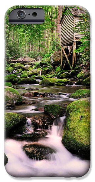 Grist Mill iPhone Cases - The Roaring Fork and Reagans Mill iPhone Case by Thomas Schoeller