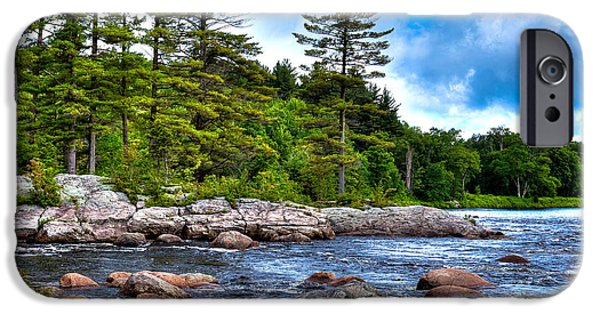 Summer iPhone Cases - The Rocky Moose River iPhone Case by David Patterson