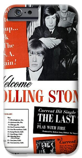 Charlie Watts iPhone Cases - The Rolling Stones - 1965 iPhone Case by Billboard Page