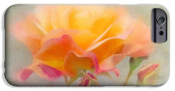 Antiques iPhone Cases - The Rose Next Door iPhone Case by Hal Halli