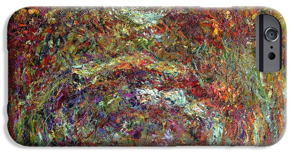 Autumn Road iPhone Cases - The Rose Path Giverny iPhone Case by Claude Monet
