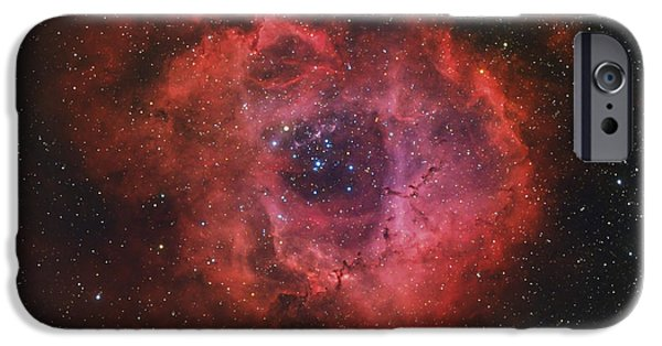 Constellations iPhone Cases - The Rosette Nebula iPhone Case by Rolf Geissinger