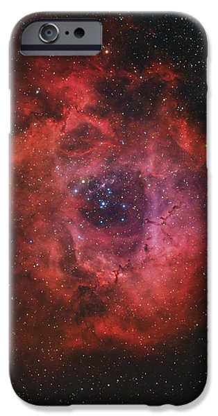 The Rosette Nebula iPhone Case by Rolf Geissinger