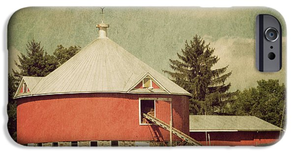 Field. Cloud iPhone Cases - The Round Barn iPhone Case by Joel Witmeyer