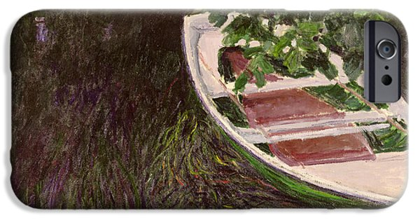 Overhang iPhone Cases - The Rowing Boat iPhone Case by Claude Monet